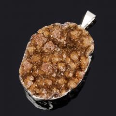Кулон цитрин Бразилия (биж. сплав) друза 4-4,5 см