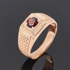 Кольцо гранат альмандин Индия (серебро 925 пр. позолота) огранка размер 19