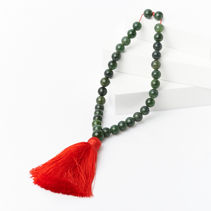 Четки нефрит зеленый 10 мм (32 бусины) цены онлайн