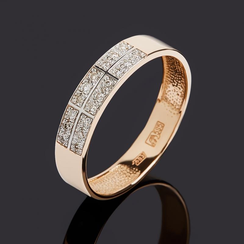 Кольцо бриллиант Индия (золото 585 пр. родир. бел.) огранка размер 20