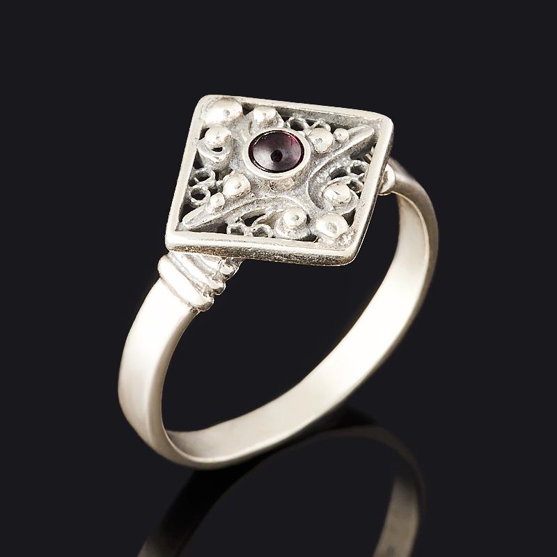 Кольцо гранат родолит (серебро 925 пр. оксидир.) размер 19