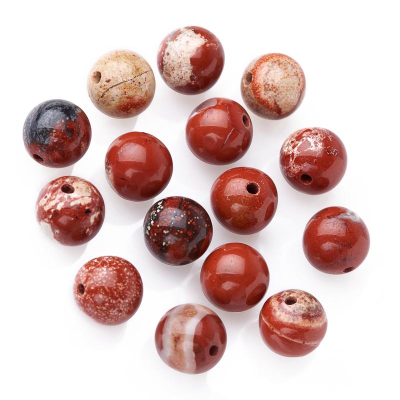 Бусина яшма красная шарик 8-8,5 мм (1 шт)