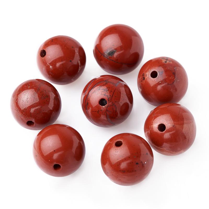 Бусина яшма красная шарик 12-12,5 мм (1 шт)