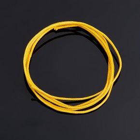 Шнурок желтый 70 см (текстиль)