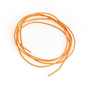 Шнурок оранжевый 70 см (текстиль)