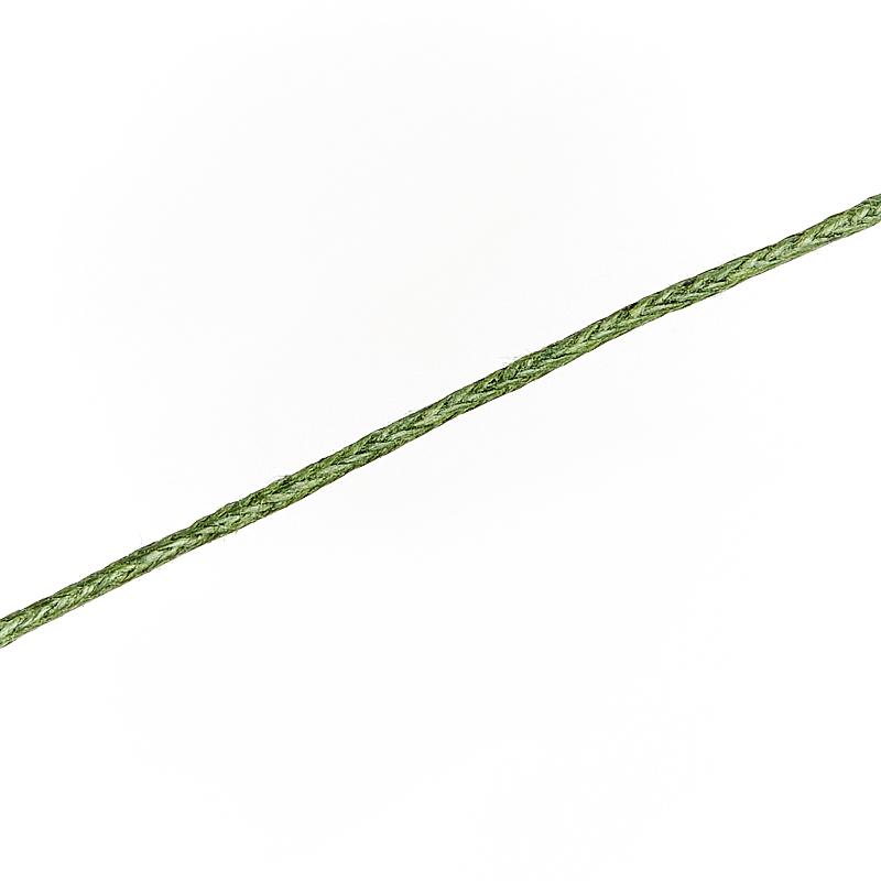 Шнурок (зеленый) темный 70 см (текстиль)