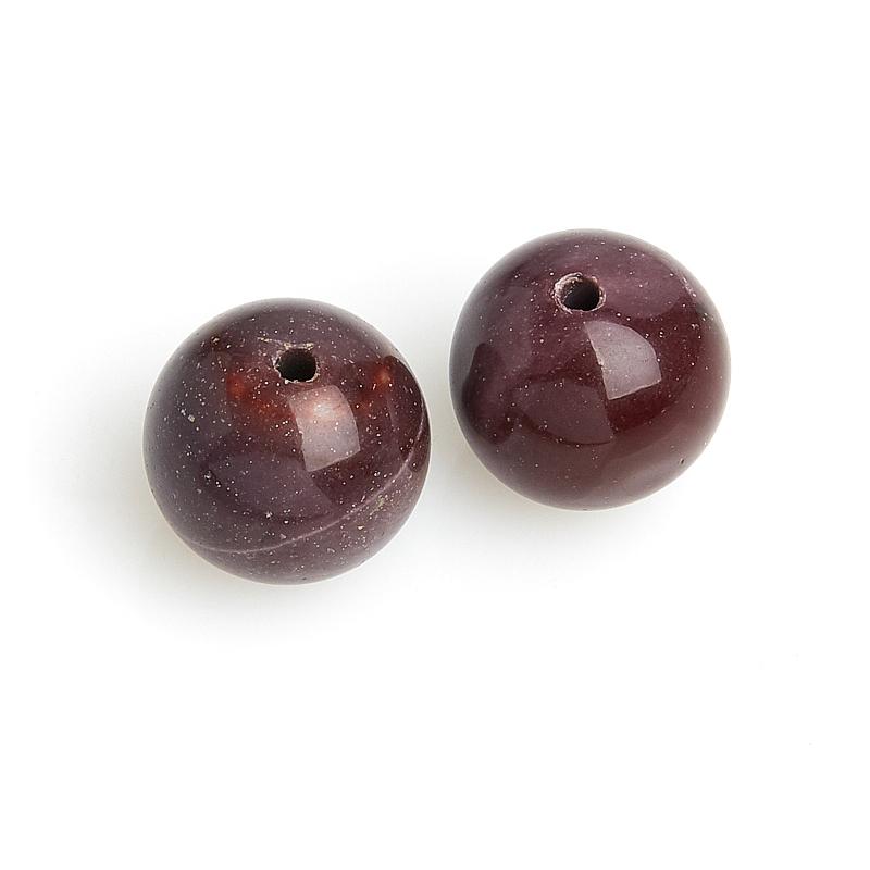 Бусина яшма мукаит фиолетовый шарик 12,5 мм (1 шт) все цены