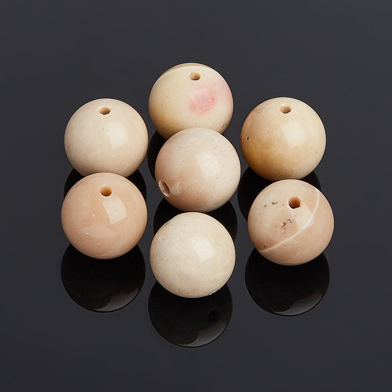цена на Бусина яшма мукаит бежевый шарик 12,5 мм (1 шт)