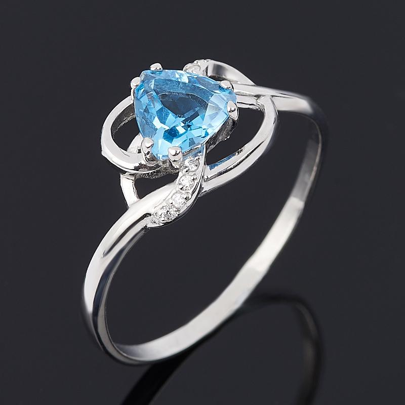 Кольцо топаз swiss (серебро 925 пр. родир. бел.) огранка размер 17,5 коюз топаз кольцо т900011471