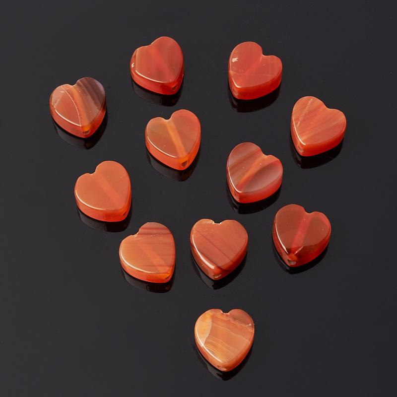 Бусина сердолик сердечко 10*10 мм (1 шт)