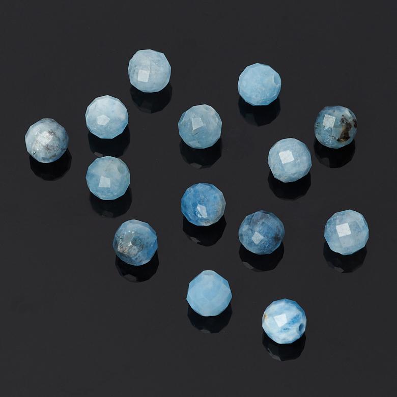 цена на Бусина аквамарин шарик 4,5-5 мм огранка (1 шт)