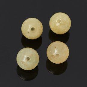 Бусина берилл желтый (гелиодор) Бразилия шарик 6,5-7 мм (1 шт)
