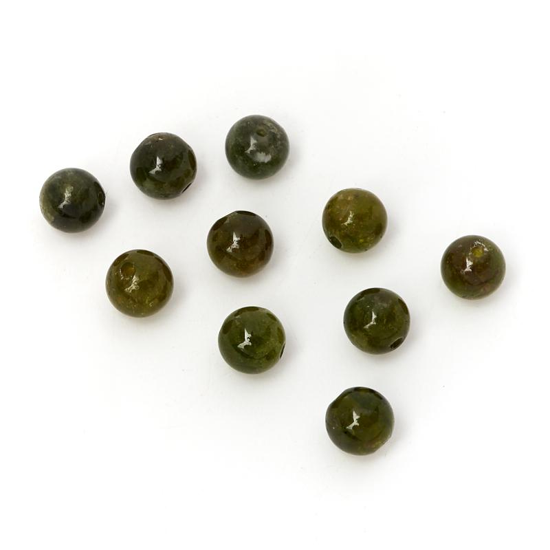 Бусина турмалин зеленый (верделит) шарик 4,5-5 мм (1 шт) цены онлайн