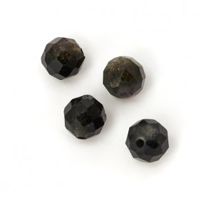 Бусина турмалин зеленый (верделит) Бразилия шарик 4,5-5 мм огранка (1 шт)