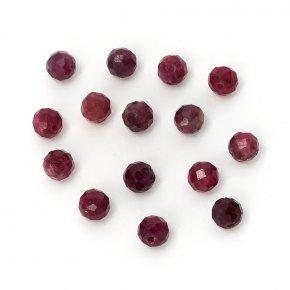 Бусина турмалин розовый (рубеллит) Бразилия шарик 4,5-5 мм огранка (1 шт)