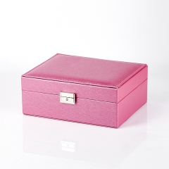 Шкатулка для хранения  украшений (розовый) 23х18,5х9 см