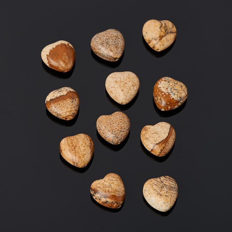 цена на Бусина яшма рисунчатая (песочная) сердечко 10*10 мм (1 шт)