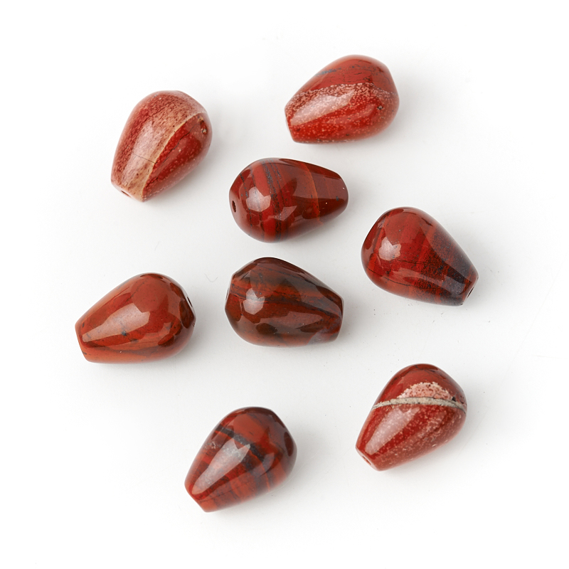 Бусина яшма красная капля 10*14 мм (1 шт) бусина яшма брекчиевая уточка 21 26 мм 1 шт