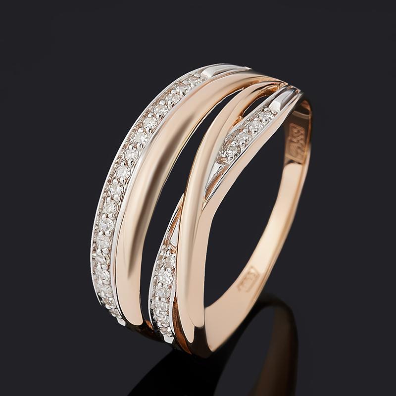 Кольцо бриллиант Индия (золото 585 пр.) огранка размер 16,5