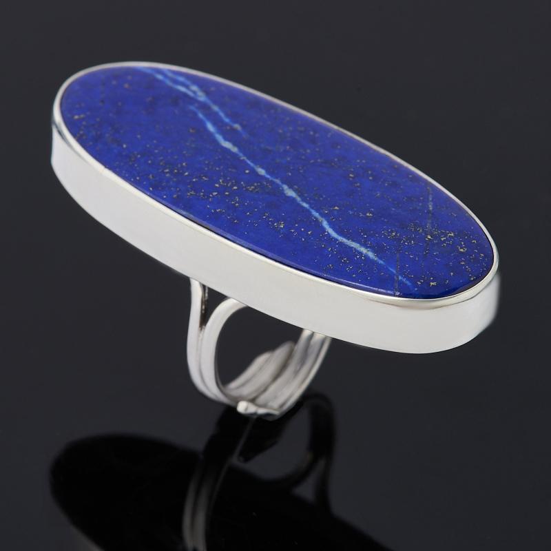 Кольцо лазурит (серебро 925 пр. родир. бел.) (регулируемый) размер 17