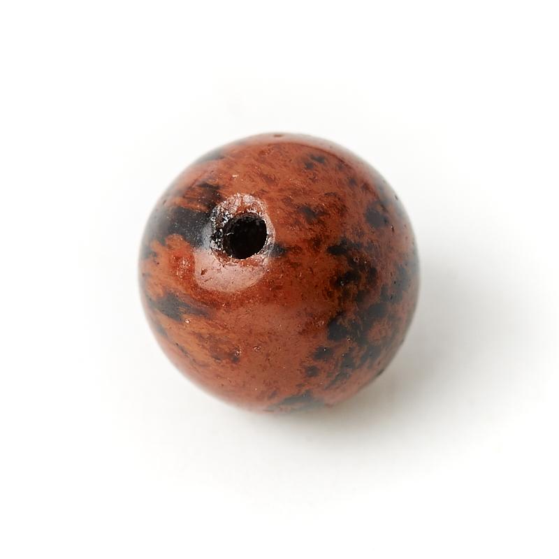 Бусина обсидиан коричневый Армения шарик 6-6,5 мм (1 шт)