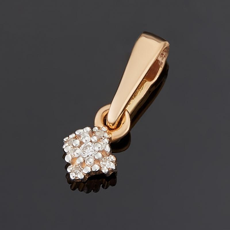 Кулон бриллиант Индия (золото 585 пр.) огранка