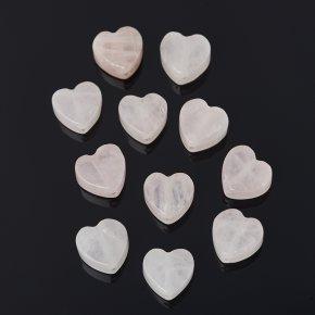 Бусина розовый кварц Бразилия сердечко 10*10 мм (1 шт)