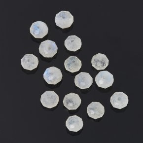 Бусина лунный камень (адуляр) Индия сплюснутый шар 6 мм огранка (1 шт)