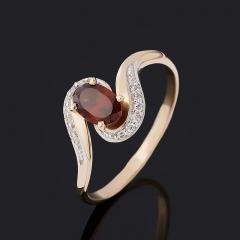 Кольцо гранат альмандин Индия огранка (золото 585 пр.) размер 16,5