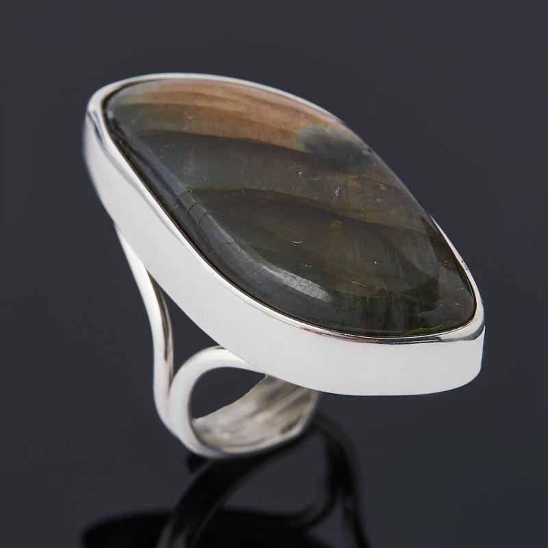 Кольцо лабрадор (серебро 925 пр. родир. бел.) (регулируемый) размер 17