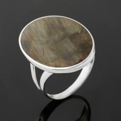 Кольцо лабрадор Мадагаскар (серебро 925 пр. родир. бел.) размер 18,5