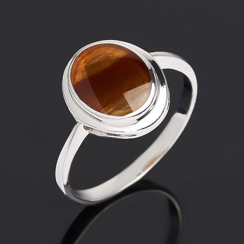 Кольцо сердолик (серебро 925 пр. родир. бел.) размер 18