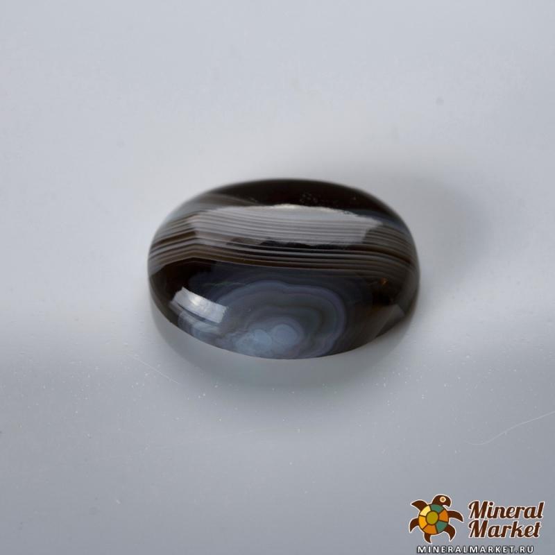 Кабошон агат серый Ботсвана 12*16 мм