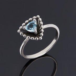 Кольцо топаз голубой Бразилия (серебро 925 пр.) огранка размер 17,5