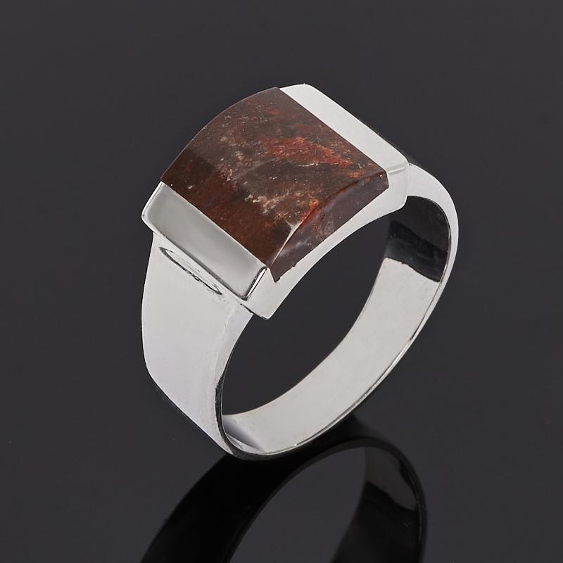 Кольцо яшма уральская (серебро 925 пр.) размер 18