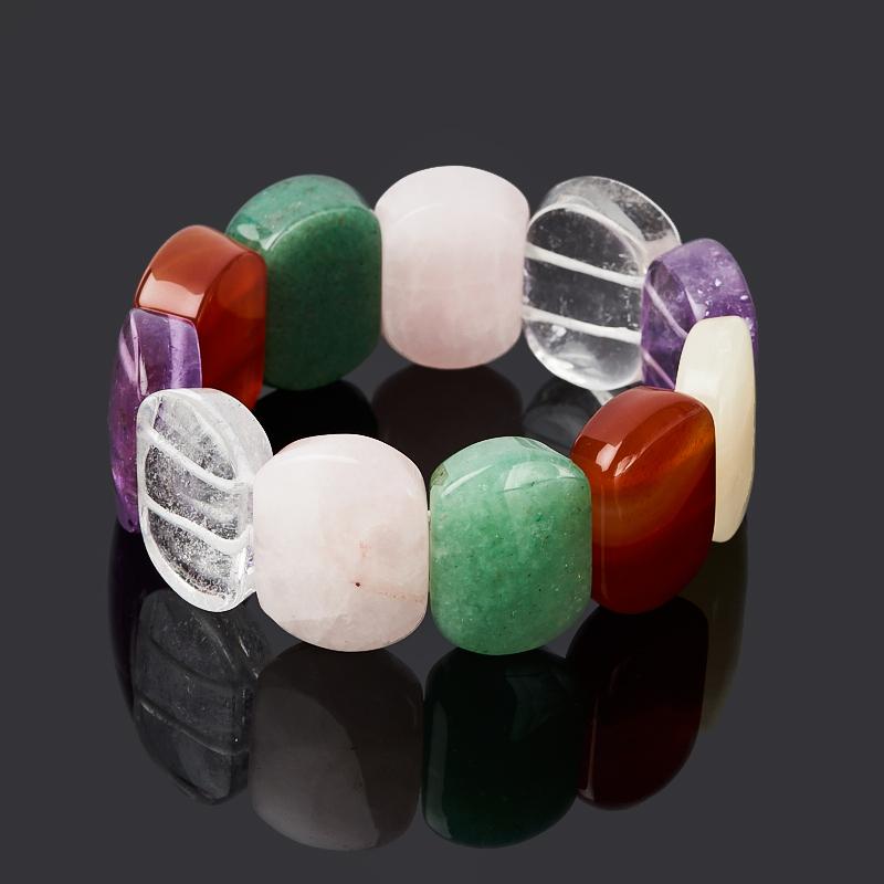 Браслет из разных видов кварца 16 см стоимость