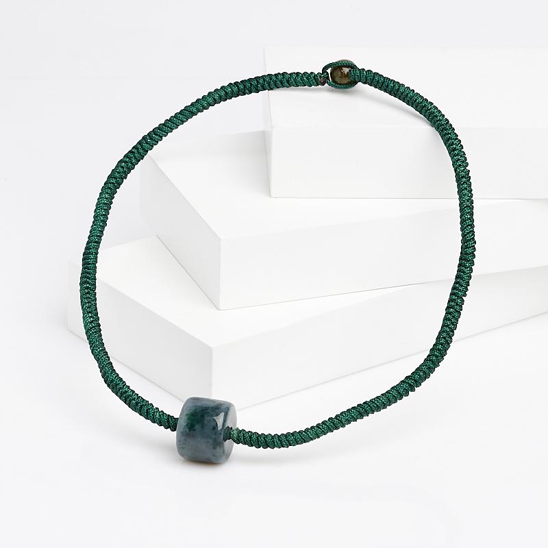 Бусы жадеит (текстиль) 42 см камни для бани жадеит
