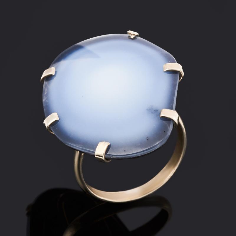 Кольцо кахолонг (нейзильбер) размер 18,5