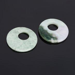 Кулон жадеит Мьянма круг 5,5 см