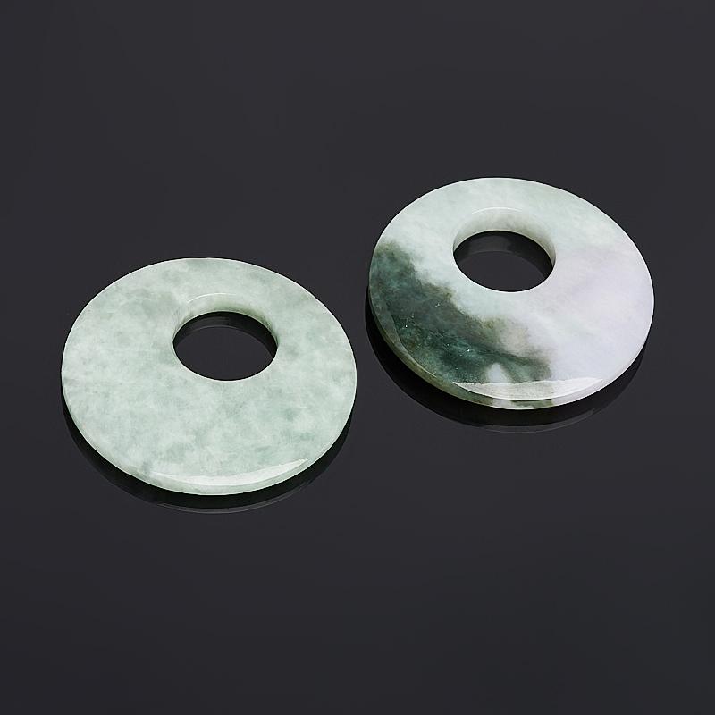 Кулон жадеит круг 5,5 см черепаха жадеит 4 см