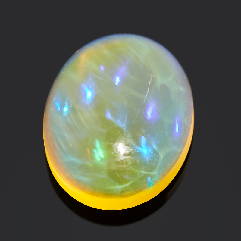 Кабошон опал благородный желтый 10*8*5 мм