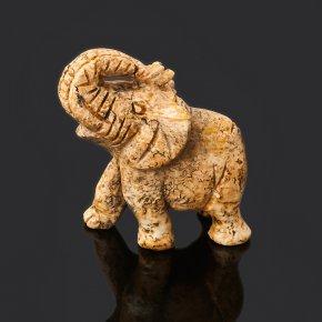 Слон яшма рисунчатая (песочная) Намибия 4 см