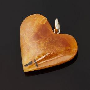 Кулон симбирцит Россия (нейзильбер) сердечко 3,5 см