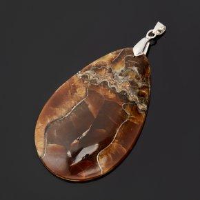 Кулон симбирцит Россия (биж. сплав) капля 7,5 см