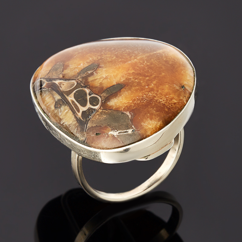 Кольцо симбирцит (нейзильбер) размер 18