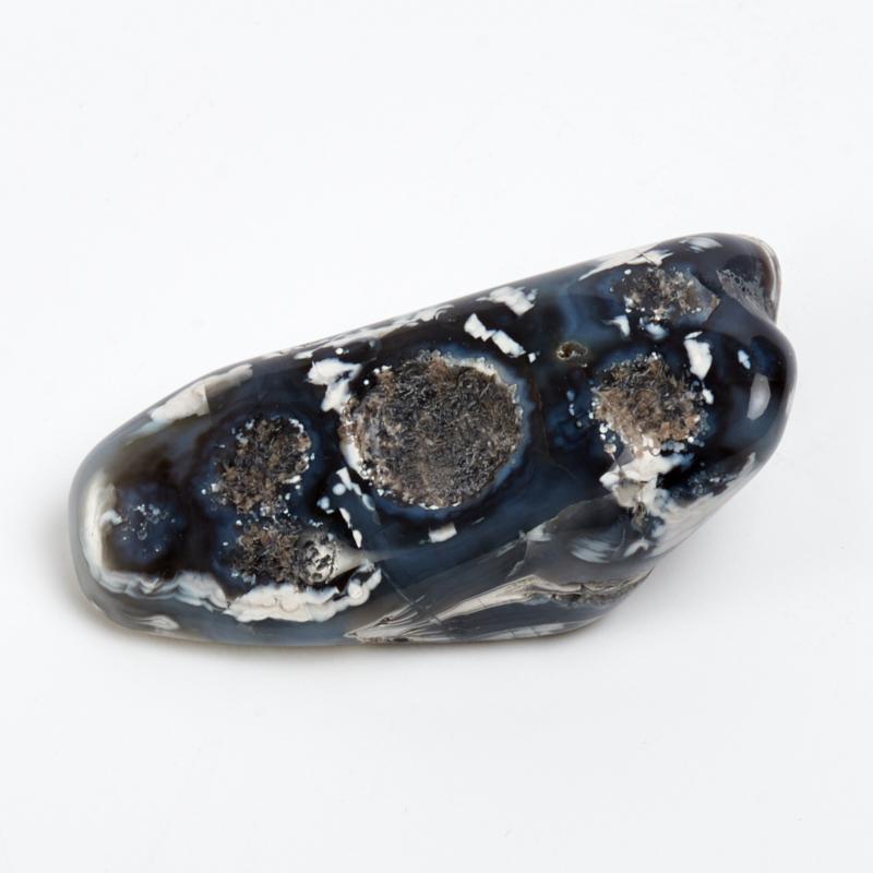 Галтовка агат черный Россия (4-5 см) 1 шт