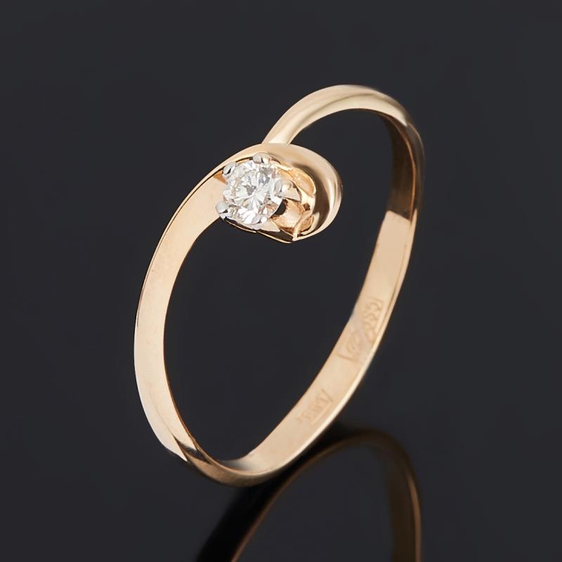 Кольцо бриллиант Индия (золото 585 пр.) огранка размер 16