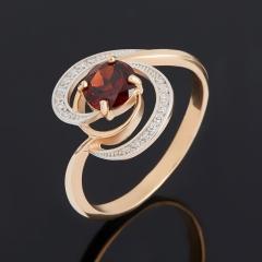 Кольцо гранат альмандин Индия (золото 585 пр.) огранка размер 16,5