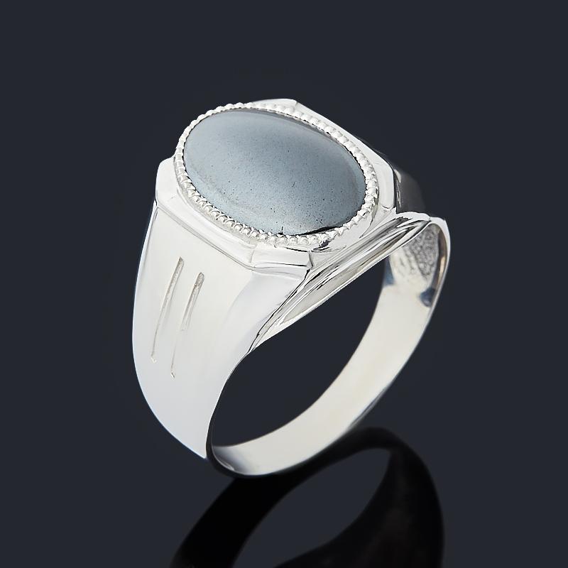 Кольцо гематит Бразилия (серебро 925 пр. родир. бел.) размер 20,5