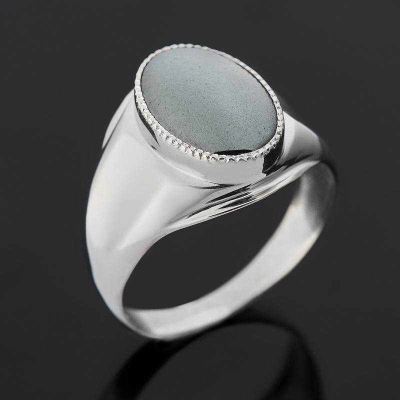 Кольцо гематит Бразилия (серебро 925 пр. родир. бел.) размер 21